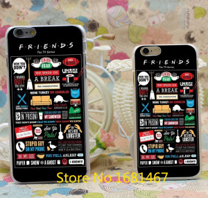 FRIENDS FUNNY TV SHOW LOGO NOVELTY Hard Style Transparent For iPhone 6 ...