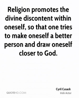 Cyril Cusack Religion Quotes