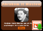 Download Abraham H Maslow Powerpoint