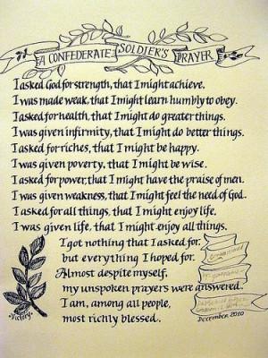... unspoken prayers were answers. I am, among all people, most richly