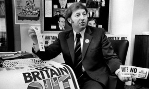 NUM organiser and later leader Arthur Scargill in Barnsley with some