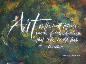 ... sponges to manipulate the paint. This is one of my favorite quotes
