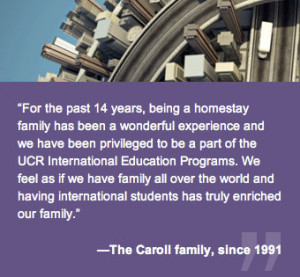 For the past 14 years, being a homestay family has been a wonderful ...