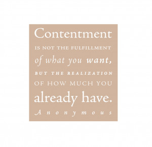 have learned the secret of being content in any and every situation ...