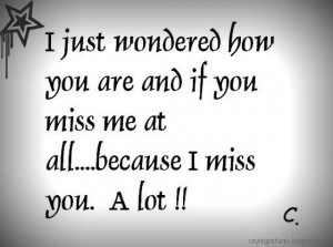 wondered-how-you-are-and-and-if-you-miss-me-at-all-because-I-miss-you ...