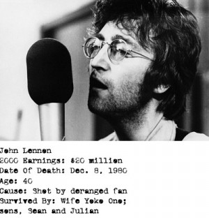 Quotes John Lennon Yoko Ono ~ Remembering John Lennon, founder of The ...