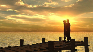 Full View and Download romance with sunset Wallpaper with resolution ...