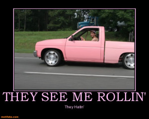 for larger versionName:they-see-me-rollin-theone-pink-redneck-truck ...