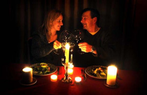 Candle Light Dinner Valentines Day Image