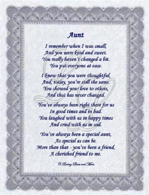 ... you aunt until we meet again I love you r.i.p. my lovely dear aunt