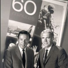 Mike Wallace and Harry Reasoner on 60 Minutes. More