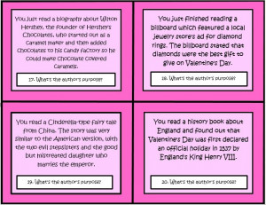 These 32 Common Core Task Cards for Valentine's Day by The Teacher ...