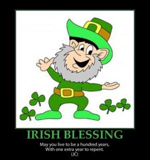funny Irish Blessing repent