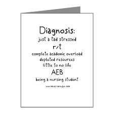 Tad Stressed Student Nurse Note Cards (Pk of 20) for