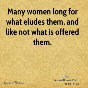 Ovid Women Quotes