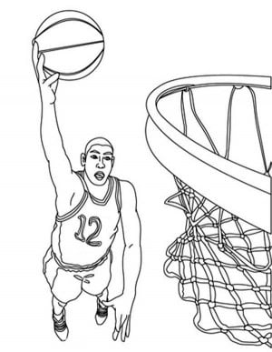 Terrible image inside printable basketball coloring pages