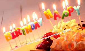 FREE-SHIPPING-Happy-Birthday-Cake-Candle-Color-Novel-Gift-Party ...
