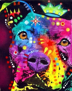 pitbull art | ... The Thoughtful Pitbull Crowned Fine Art Prints and ...