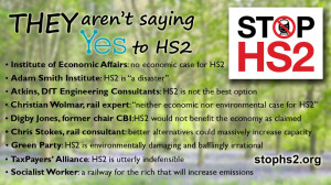 Some quotes from those not saying 'Yes' to HS2