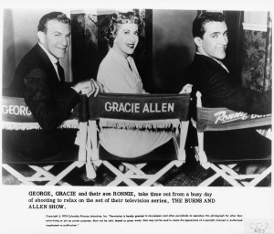 George Burns Gracie Allen And Their Son Ronnie Photo Details picture