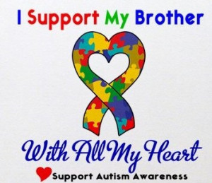 Great Autism Awareness for brother tshirt iron on by printonit, $2.99