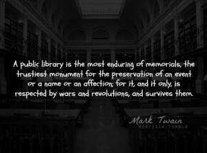 Mark twain, quotes, sayings, public library