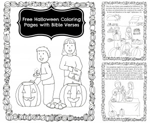 Halloween Coloring Pages with Bible Verses