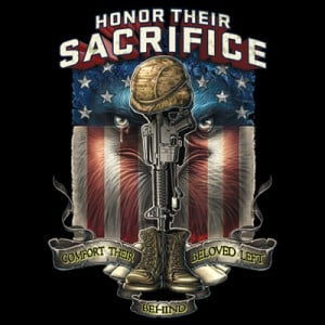 Details about Patriotic Tshirt POW KIA MIA Honor Their Sacrifice War ...