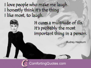 Audrey Hepburn Quote About Love and Laughing