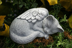 Cat Angel Statue Pet Memorial by PhenomeGNOME on Etsy, $37.99