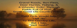 Country Girl Sayings 28 Facebook Covers