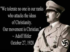 Adolf Hitler quotes about Christianity