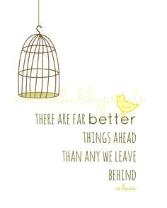 cs lewis Quote Things Ahead 8x10 Print by NotTooShabbyHandmade, $13.50 ...