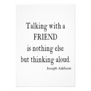 ... Addison Talking w Friend Friendship Quote Personalized Invitation