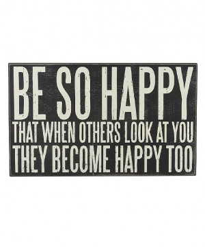 Be So Happy' Box Sign