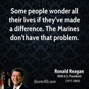 ... if they've made a difference. The Marines don't have that problem