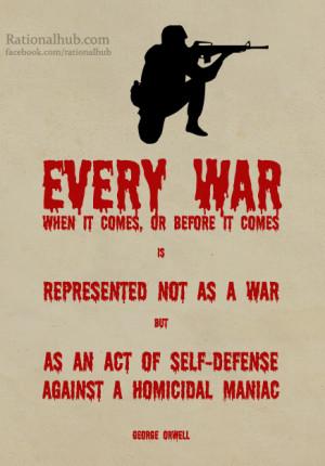 George Orwell on War by rationalhub