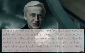 Everyone says Harry had a sad life. And that's true, but poor Draco ...