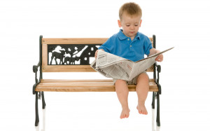 cute little boy reading newspaper wallpaper , Rare unseen wallpapers ...