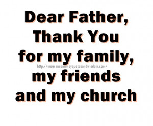 Dear Father Thank You For My Family