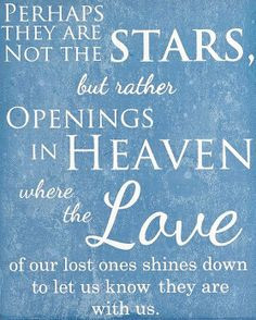 Perhaps They Are Not Stars But Rather Opening in Heaven Where the Love ...