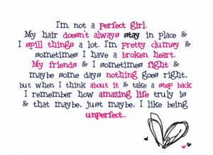 being imperfect is amazing