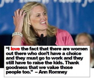 quote (above) from yesterday by Marie Antoinette Romney?…Well, Ann ...