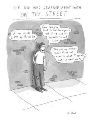 Roz Chast: The Kid who learned about math on the street (The New ...