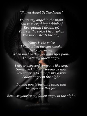 fallen angel poems and quotes quotesgram