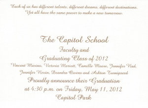 Invitations Templates. Elementary Graduation Quotes And Sayings ...