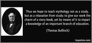 impart a knowledge of an important branch of education Thomas