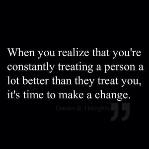 It's time to make a change