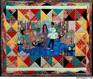 The Bitter Nest V: The Homecoming, Faith Ringgold, 1988, acrylic on ...