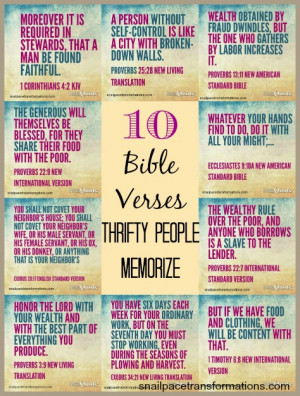 10 Bible Verses Thrifty People Memorize